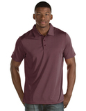 Antigua Quest Polo Shirt Maroon with White Thumbnail