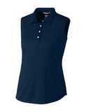 Women's Cutter & Buck Sleeveless Polo Liberty Navy Thumbnail