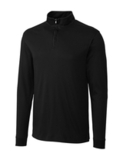 Cutter & Buck Men's Pima Cotton Big & Tall Long Sleeve Belfair Half-Zip Mock Turtleneck Black Thumbnail