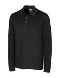 Cutter & Buck Men's Long-Sleeved DryTec Big & Tall Advantage Polo Shirt Black Thumbnail
