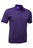Men's Mini Stripe Polo Purple with Charcoal Thumbnail