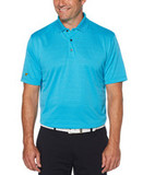 Jack Nicklaus Shadow Textured Polo Danube Blue Thumbnail
