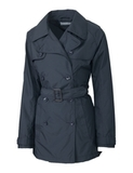 Women's Cutter & Buck WeatherTec Mason Trench Coat Onyx Thumbnail