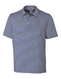 Cutter & Buck Men's Division Striped Polo Tour Blue Thumbnail