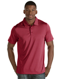 Antigua Quest Polo Shirt Cardinal Red with White Thumbnail