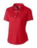 Women's Cutter & Buck Fiona DryTec Polo Cardinal Red Thumbnail