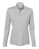 Women's Lightweight Mélange Quarter-Zip Pullover Mid Grey Melange Thumbnail