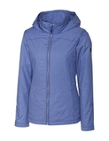 Women's Cutter & Buck Panoramic Packable Wind Jacket Tour Blue Thumbnail