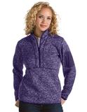 Antigua Women's Fortune Pullover Dark Purple Heather Thumbnail