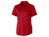 Ladies Prospect Textured Stretch Polo Red Thumbnail
