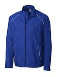 Men's Cutter & Buck WeatherTec Beacon Full Zip Jacket Tour Blue Thumbnail