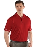 Antigua Men's Salute Polo Dark Red with White Thumbnail