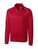 Cutter & Buck Men's Weathertec Ridge Pullover Cardinal Red Thumbnail