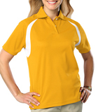 Women's Raglan Wicking Polo Yellow Thumbnail