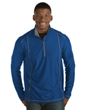 Antigua Men's Tempo Pullover Dark Royal with Steel Thumbnail