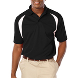 Men's Raglan Wicking Polo Black Thumbnail