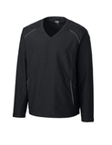 Men's Cutter & Buck WeatherTec Beacon V-Neck Jacket Black Thumbnail