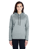 Women's Under Armour Double Threat Armour Fleece Hoodie True Gray Heather Thumbnail