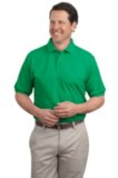 Extended Size Silk Touch Polo Shirt Kelly Geen Thumbnail