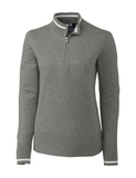 Women's Cutter & Buck Lakemont Half-Zip Grey Heather Thumbnail