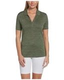 Ladies Callaway Broken Stripe Polo Hedge Green Thumbnail