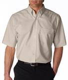 Men's Classic Wrinkle-free Short-sleeve Oxford Tan Thumbnail