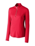 Women's Cutter & Buck Madeline 1/2-Zip Mock Turtleneck Red Thumbnail