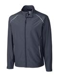 Men's Cutter & Buck WeatherTec Beacon Full Zip Jacket Onyx Thumbnail