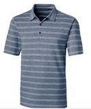 Forge Polo Heather Stripe Indigo Thumbnail