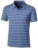 Forge Polo Heather Stripe Tailored fit Tour Blue Thumbnail