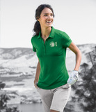 Women's Nike Golf Dri-FIT Smooth Performance Modern Fit Polo Pine Green Thumbnail