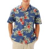 Floral Unisex Tropical Print Poplin Camp Shirt Floral Print Thumbnail