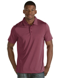 Antigua Quest Polo Shirt Cabernet Red with White Thumbnail