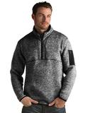 Antigua Men's Fortune Sweater-Knit Half-Zip Black Thumbnail