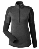 Under Armour Ladies' Qualifier Hybrid Corporate Quarter-Zip Black Thumbnail
