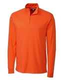 Cutter & Buck Men's Pima Cotton Long Sleeve Belfair Half-Zip Mock Turtleneck College Orange Thumbnail