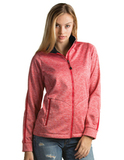Antigua Women's Full-Zip Golf Jacket Dark Red Heather Thumbnail