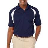 Men's Raglan Wicking Polo Navy with White Thumbnail