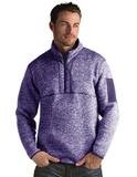 Antigua Men's Fortune Sweater-Knit Half-Zip Dark Purple Thumbnail