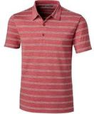 Forge Polo Heather Stripe Tailored fit Cardinal Red Thumbnail
