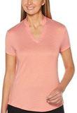 Women's Fine Line Stripe Polo Cayenne Thumbnail