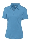 Women's Cutter & Buck DryTec Extended Sizes Championship Polo Shirt Sea Blue Thumbnail