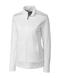 Women's Cutter & Buck Weathertec Ridge Full-Zip Jacket White Thumbnail