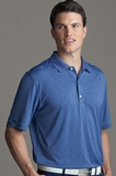 Greg Norman Play Dry Heather Knit Polo Shirt Hurricane Heather Thumbnail