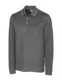 Cutter & Buck Men's Long-Sleeved DryTec Big & Tall Advantage Polo Shirt Elemental Gray Thumbnail