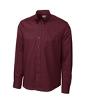 Men's Cutter & Buck L/S Epic Easy Care Nailshead Bordeaux Thumbnail