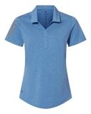 Women's Floating 3-Stripes Sport Shirt True Blue Heather with Grey Three Thumbnail