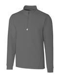Women's Cutter & Buck Traverse Half-Zip Jersey Knit Elemental Grey Thumbnail