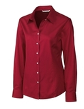 Women's Cutter & Buck Big & Tall Long Sleeve Epic Easy Care Fine Twill Cardinal Red Thumbnail