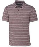 Forge Polo Heather Stripe Tailored fit Bordeaux Thumbnail